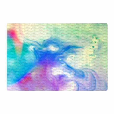 Alison Coxon Rainbow Flow Watercolor Area Rug Rug Size: 2 x 3