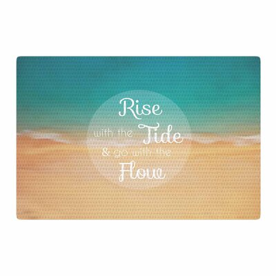 Alison Coxon Rise With the Tide Teal/Brown Area Rug Rug Size: 4 x 6