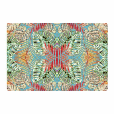 Alison Coxon Summer Jungle Love Blue/Red/Aqua Area Rug Rug Size: 2 x 3