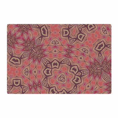 Alison Coxon Tribal Fire Digital Tan/Red Area Rug Rug Size: 2 x 3