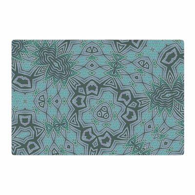Alison Coxon Tribal Water Digital Blue/Green Area Rug Rug Size: 4 x 6