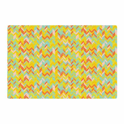 Allison Soupcoff Chevron Pop Pattern Yellow Area Rug Rug Size: 4 x 6
