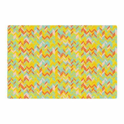 Allison Soupcoff Chevron Pop Pattern Yellow Area Rug Rug Size: 2 x 3