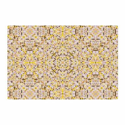 Allison Soupcoff Hint Digital Yellow/Beige Area Rug Rug Size: 2 x 3