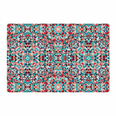 Allison Soupcoff Tart Digital Blue/Red Area Rug Rug Size: 2 x 3