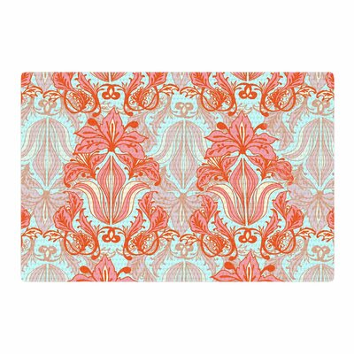 Amy Reber Baroque Pattern Orange Area Rug Rug Size: 2 x 3