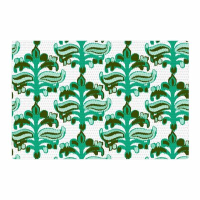Amy Reber Chandelier Ikat Green/White Area Rug Rug Size: 4 x 6