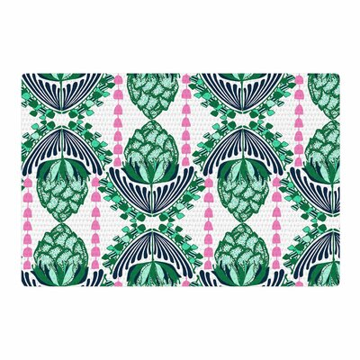 Amy Reber Tassles Illustration Green/Line Area Rug Rug Size: 2 x 3