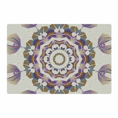 Angelo Carantola Reach Out Beige/Lavender Area Rug Rug Size: 4 x 6