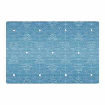 Angelo Cerantola Celestial Blue/White Area Rug Rug Size: 4 x 6