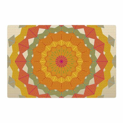 Angelo Cerantola Composition Orange/Beige Area Rug Rug Size: 2 x 3
