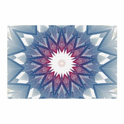 Angelo Cerantola Starburst Digital Blue Area Rug Rug Size: 2 x 3