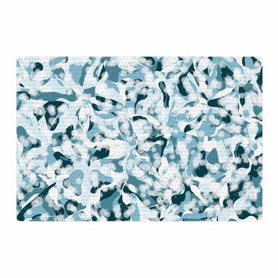 Angelo Cerantola Waterflowers Digital Blue Area Rug Rug Size: 2 x 3