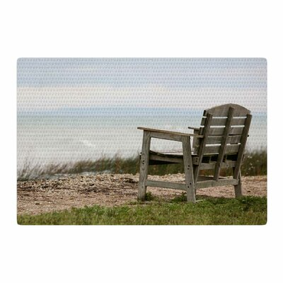 Angie Turner Beach Bench Blue/Green Area Rug Rug Size: 2 x 3