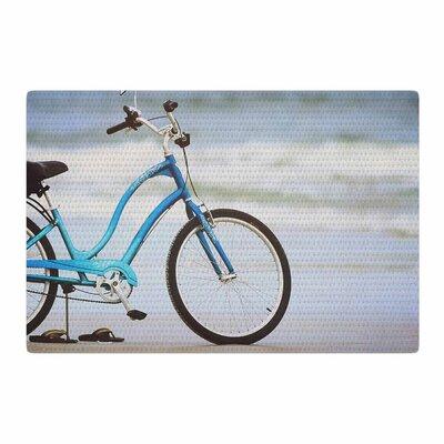 Angie Turner Beach Bike Blue/Gray Area Rug Rug Size: 4 x 6