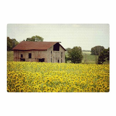 Angie Turner Field of Sunflowers Yellow/Nature Area Rug Rug Size: 2 x 3