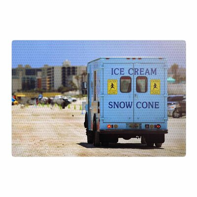 Angie Turner Ice Cream Truck Blue/Yellow Area Rug Rug Size: 2 x 3