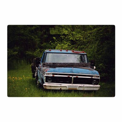 Angie Turner Old Ford Truck Digital Blue Area Rug Rug Size: 2 x 3