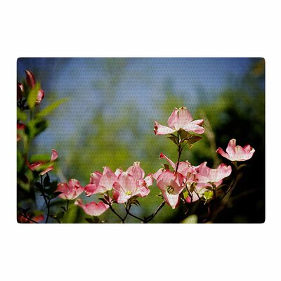 Angie Turner Dogwood Digital Floral Blue/Pink Area Rug Rug Size: 2 x 3