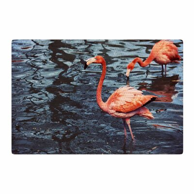 Angie Turner Flamingo Animals Pink/Blue Area Rug Rug Size: 4 x 6