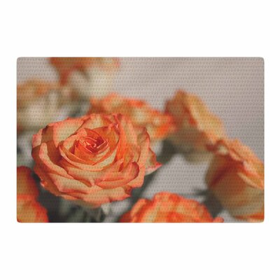 Angie Turner Roses Floral Orange Area Rug Rug Size: 2 x 3