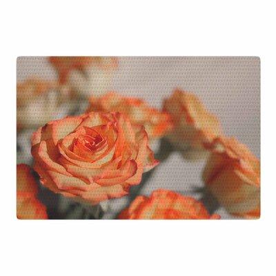 Angie Turner Roses Floral Orange Area Rug Rug Size: 4 x 6