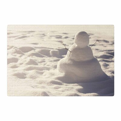 Angie Turner Snowman White/Nature Area Rug Rug Size: 2 x 3