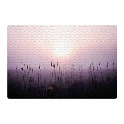 Angie Turner Sunrise Cattails Purple/Gold Area Rug Rug Size: 4 x 6