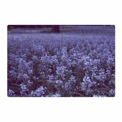 Ann Barnes Bluebell Forest Flowers Purple Area Rug Rug Size: 2 x 3