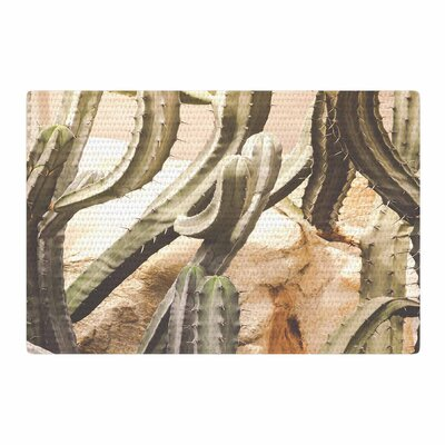 Ann Barnes Cactus Jungle Green/Beige Area Rug Rug Size: 2 x 3