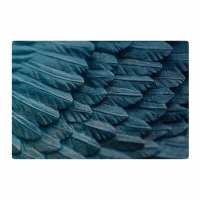 Ann Barnes Ombre Angel Blue/Celestial Area Rug Rug Size: 4 x 6