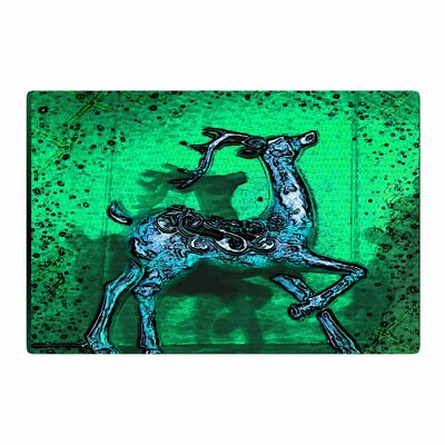 Anne LaBrie Dance on Green/Blue Area Rug Rug Size: 2 x 3