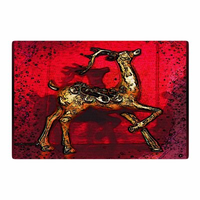 Anne LaBrie Dash on Red/Gold Area Rug Rug Size: 4 x 6