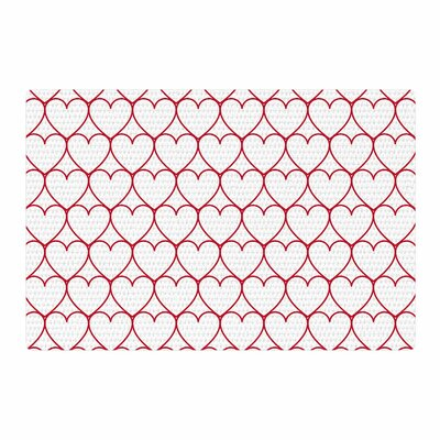 Anneline Sophia Soulmates  Red Love Red Area Rug Rug Size: 2 x 3