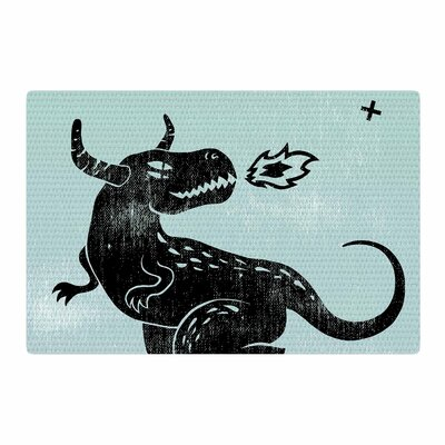 Anya Volk Fire Monster Illustration Blue Area Rug Rug Size: 4 x 6