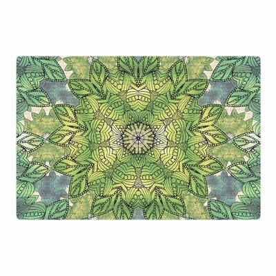 Art Love Passion Celtic Mandala Green Area Rug Rug Size: 2 x 3