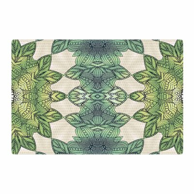 Art Love Passion Forest Leaves Celtic Abstract Green/Teal Area Rug Rug Size: 2 x 3