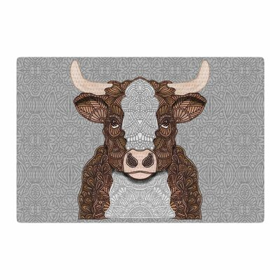 Art Love Passion Gustaf the Bull Brown/Gray Area Rug Rug Size: 2 x 3