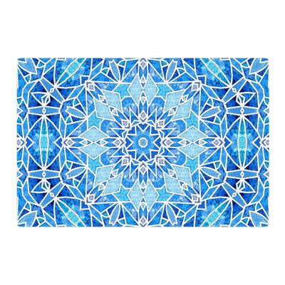 Art Love Passion Star Snowflake Blue/Aqua Area Rug Rug Size: 2 x 3