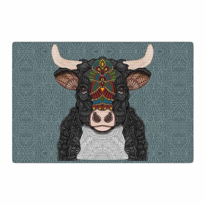 Art Love Passion Steve the Bull Gray/Brown Area Rug Rug Size: 2 x 3
