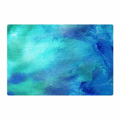 Ashley Rice AC3 Watercolor Teal Area Rug Rug Size: 2 x 3