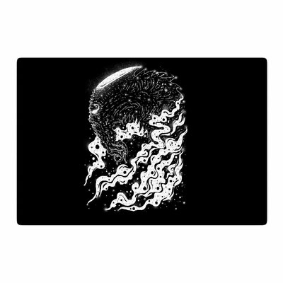 BarmalisiRTB Alien Light Black/White Area Rug Rug Size: 4 x 6