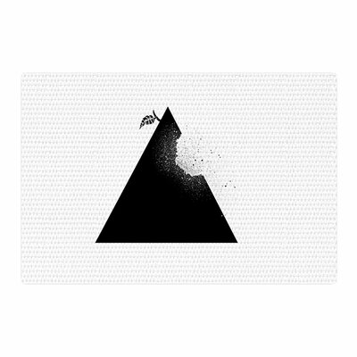 BarmalisiRTB Apple Pyramid Black/White Area Rug Rug Size: 4 x 6