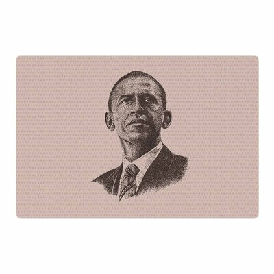 BarmalisiRTB Barack Obama Brown/Gold Area Rug Rug Size: 4 x 6