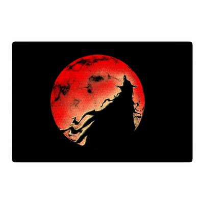 BarmalisiRTB Cloak Moon Red/Black Area Rug Rug Size: 4 x 6