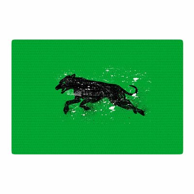 BarmalisiRTB Dog Animal Green/Black Area Rug Rug Size: 4 x 6