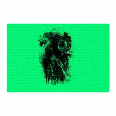 BarmalisiRTB Gasmask Abstract Green/Black Area Rug Rug Size: 2 x 3
