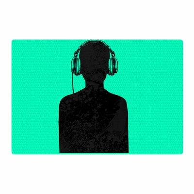 BarmalisiRTB Music Turquoise/Black Area Rug Rug Size: 4 x 6