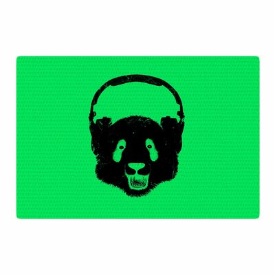 BarmalisiRTB Panda Green/Black Area Rug Rug Size: 2 x 3