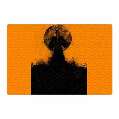 BarmalisiRTB Samuari Black/Orange Area Rug Rug Size: 2' x 3'